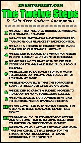 12 Steps To Debt Freedom : Enemy of Debt