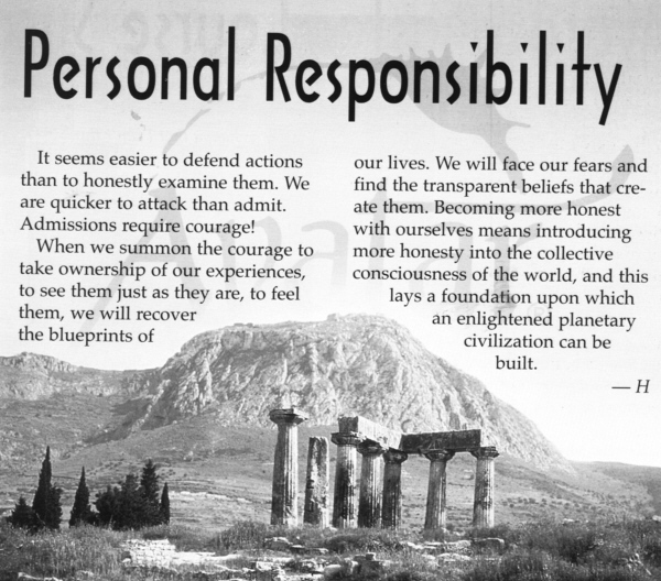 personal responisbility essay