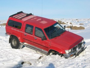4WD stuck in snow
