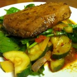 Healthy Recipes - Tuna Steak and Veggies