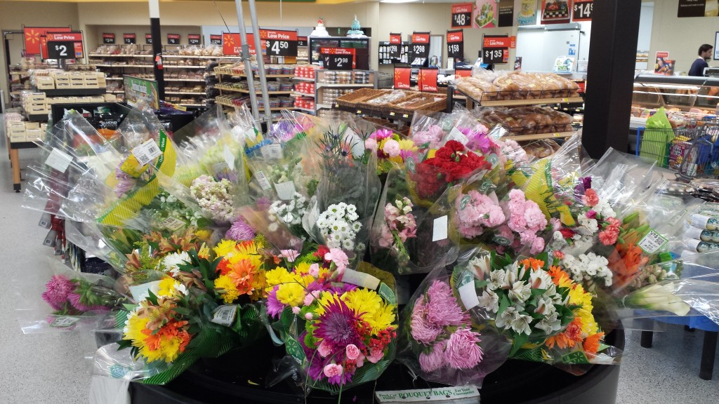 Picked Out Three Different Bouquets And Headed To The Checkout Lane