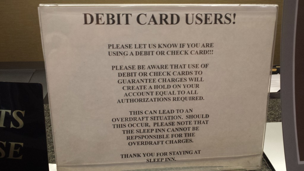 Why I Hate Credit Cards Hotel Incidental Policy Enemy