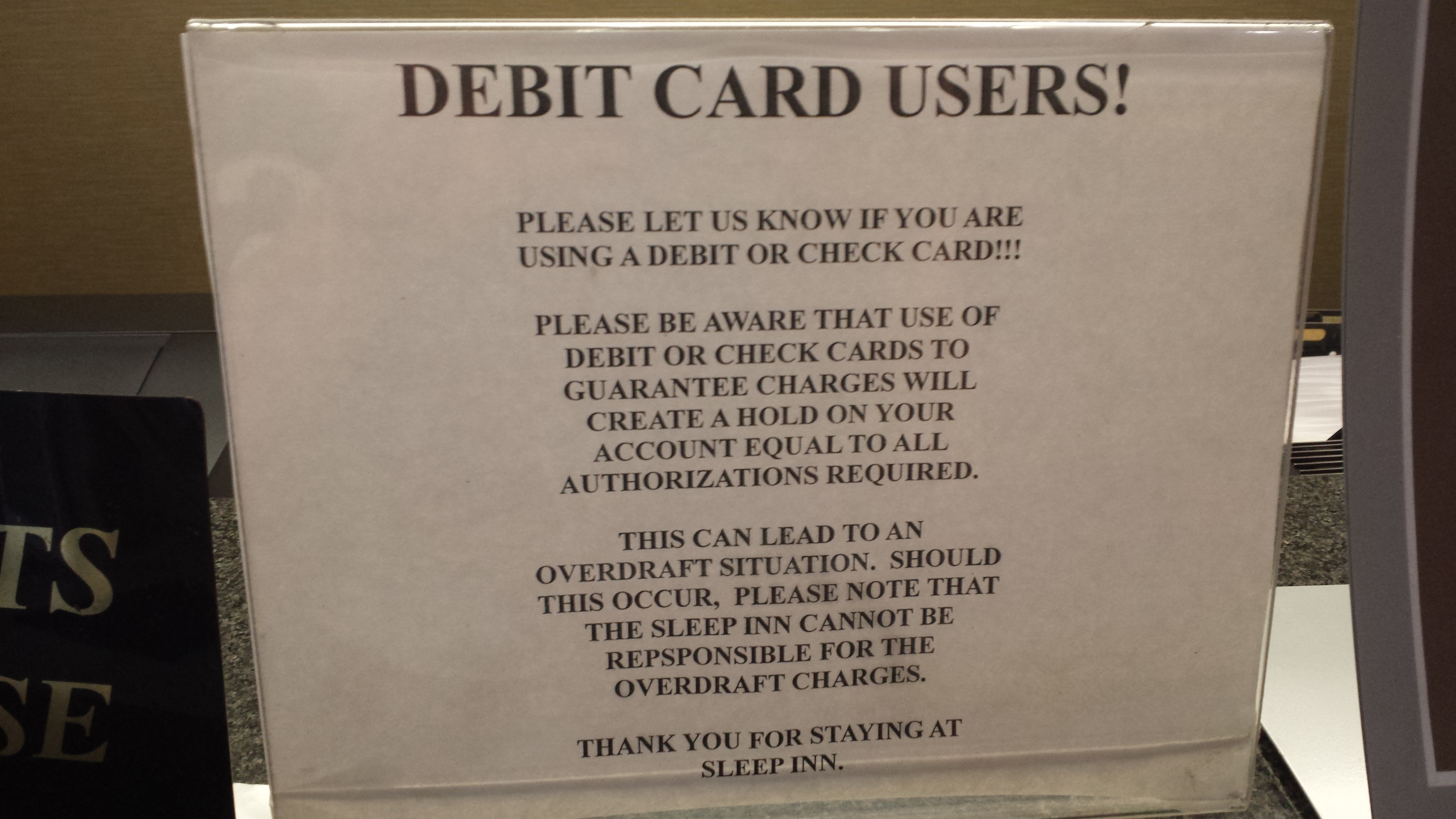 why i hate credit cards hotel incidental policy enemy of debt the employee behind the counter explained that it usually takes about five business days for the hold to be removed during that time period the held amount