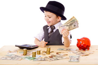money raise financially successful children