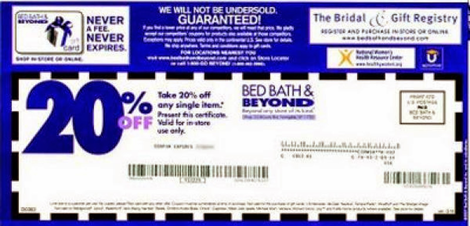 Bed Bath Beyond  Off Coupon Code
